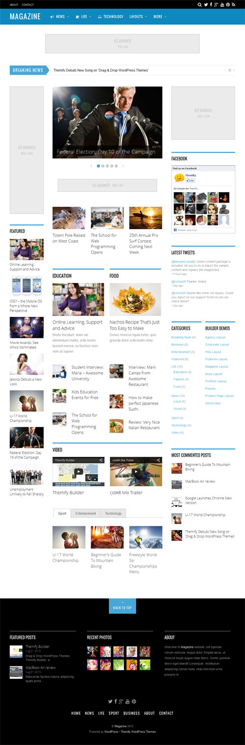 Magazine WordPress Theme Review Themify